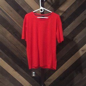 2XL red short sleeve tee shirt
